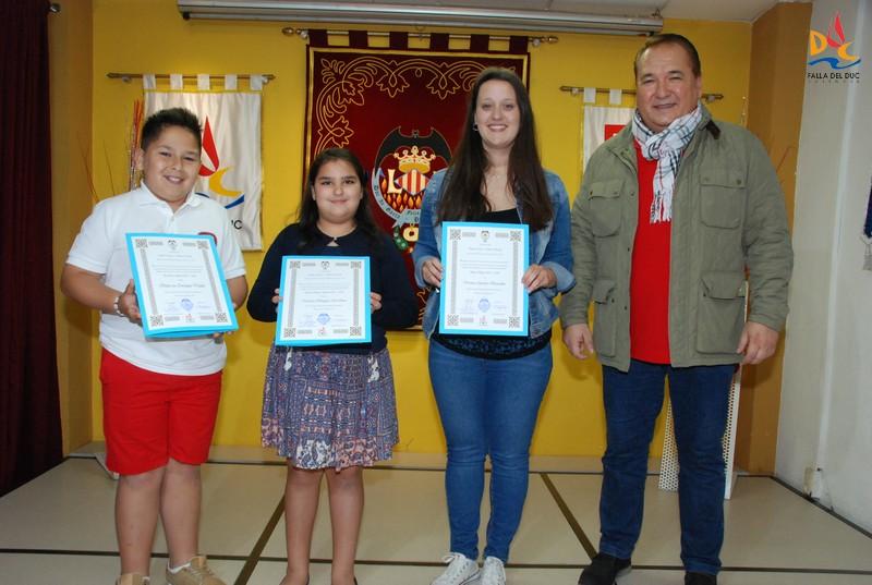 Victoria, Marcos, Verónica y Marcos máximos representantes 2018