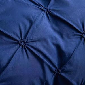 Lenjerie de pat Premium, 6 piese, finet, 200x220 cm, BLEUMARIN