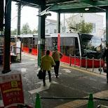 the steep hakone train at Gora station in Hakone, Kanagawa, Japan