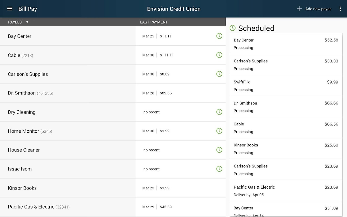 Envision Credit Union- screenshot
