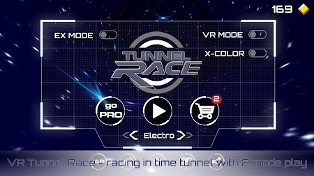 VR Tunnel Race Free (2 modes) APK screenshot thumbnail 1