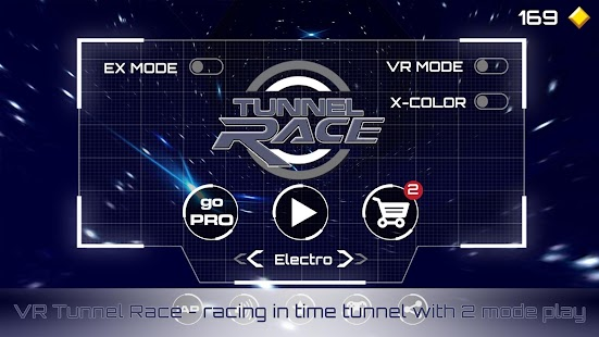 VR Tunnel Race Free (2 modes)- screenshot thumbnail