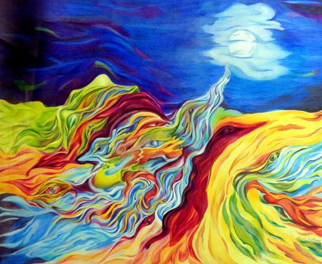 """""""Seeking for Peace"""" by Karol Keeteman. Color Pencil Drawing"""