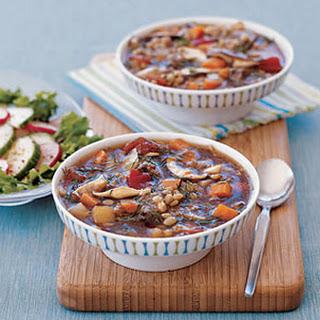 Beef, Barley and Mushroom Soup