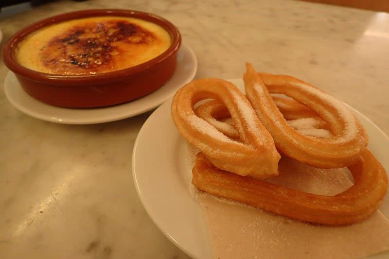 Churros and Crema Catalana at Granja M. Viader (Barcelona, Spain)