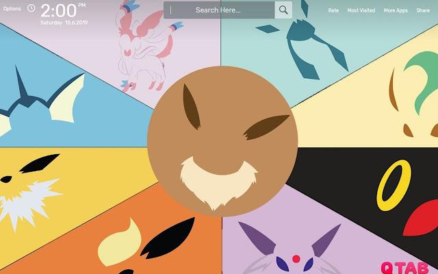 Eeveelutions Pokemon Wallpapers New Tab