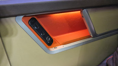 Photo: Very sporty nooks for stuff (thanks to BMW design) Singapore Air's new B777-300ER