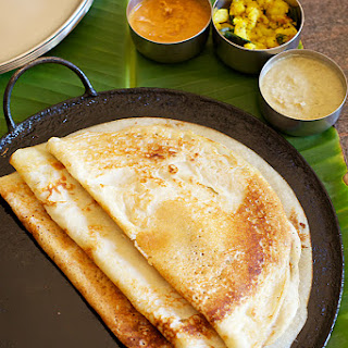 My Mother's Special Dosa With Coconut Sesame Chutney & Spiced Potatoes.