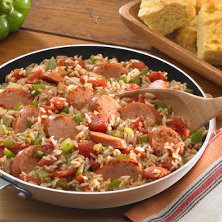Fully Loaded Jambalaya with Andouille Sausage.