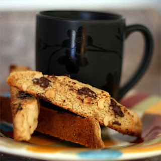 Peanut Butter and Dark Chocolate Biscotti
