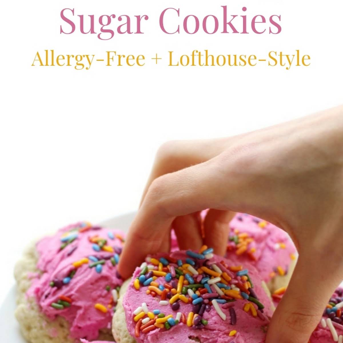 Lofthouse Style Soft Frosted Gluten Free Vegan Sugar Cookies Allergy Free