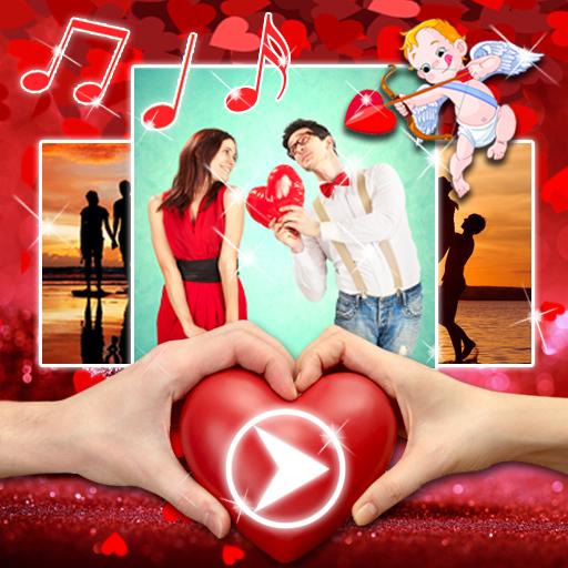 Baixar Video de Amor com Musica 💓 Editor de Fotos Novos para Android