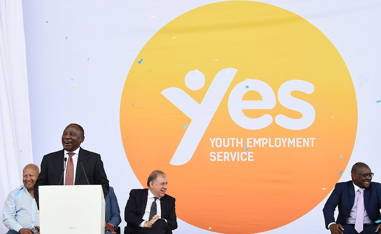 President Cyril Ramaphosa launches Youth Employment Service Initiative. Picture: ELMOND JIYANE