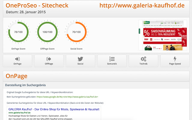 OneProSeo Site Check