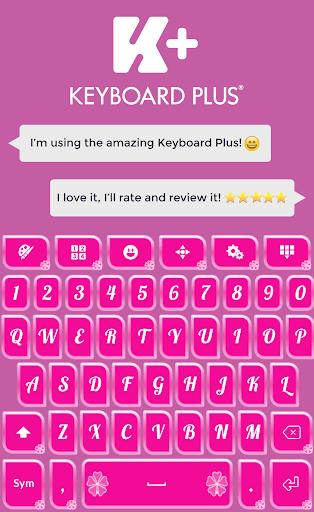 Keyboard Plus Pink Theme