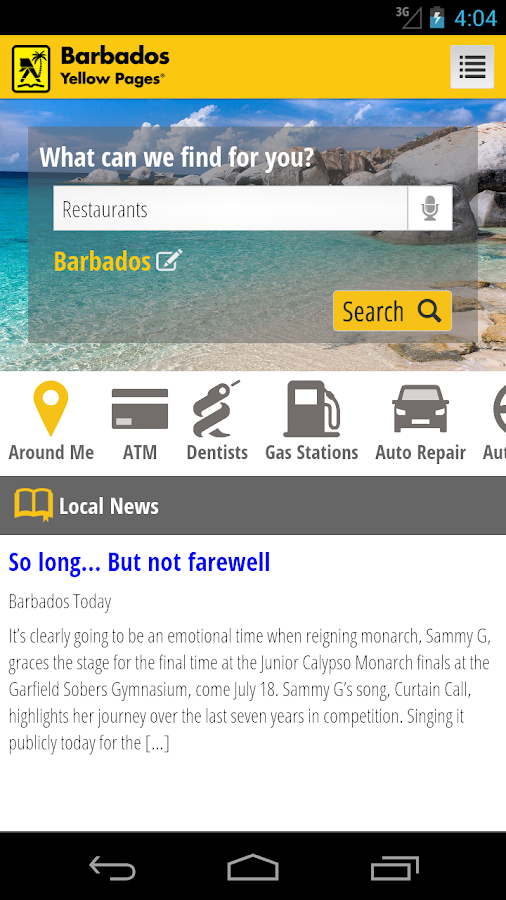 Barbados Yellow Pages- screenshot