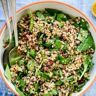 Sun-Dried Tomato, Spinach and Quinoa Salad.