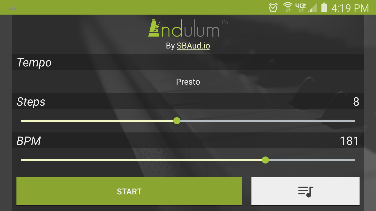 Andulum | Mobile Metronome- screenshot