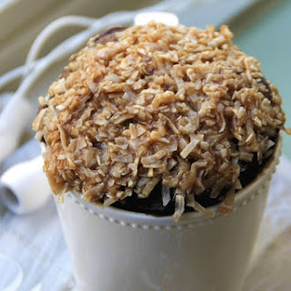 Skinny German Chocolate Mug Cake