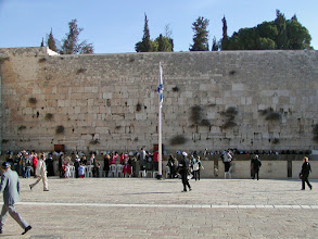 Photo: This is a place of pilgrimage for Jews where they lament the destruction of the Temple in 70 A.D. As result, over the centuries it became known as the Wailing Wall.