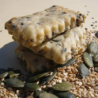 Mixed Seed Shortbread Cookies.