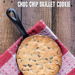 Single Serve Choc Chip Skillet Cookie
