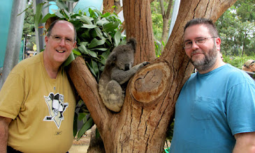 Photo: Me and Tom Gerbasi checking out the Koalas in Sydney, Australia.