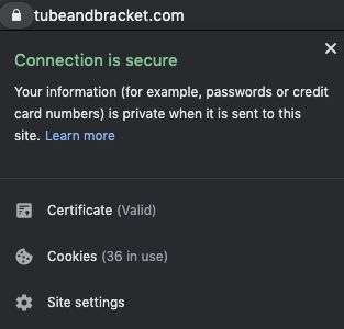 Website Connection is secure