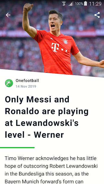 Onefootball - Soccer Scores Android App Screenshot