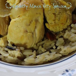 Slow Cooker Saffron Chicken with Basmati Rice.