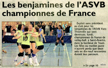 Photo: 28-05-2012 BF l'ASVB championne de France