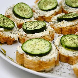 Kathy's Amazing Cucumber Sandwiches.