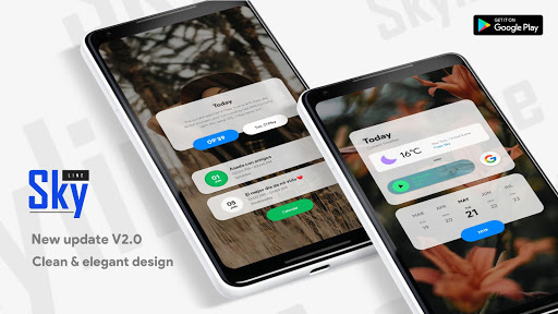 Screenshot for Skyline Kwgt in Hong Kong Play Store