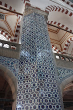 Photo: Day 115 - One of the Tiled Pillars in The Rustem Pasa Mosque