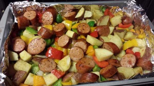 Roast on bottom rack of oven for 20 minutes. Stir the dish and redistribute...