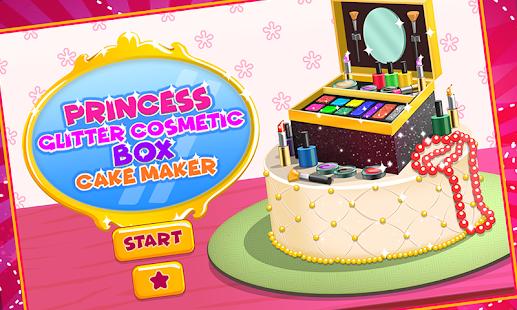 Princess Glitter Makeup Box Cake Factory - náhled