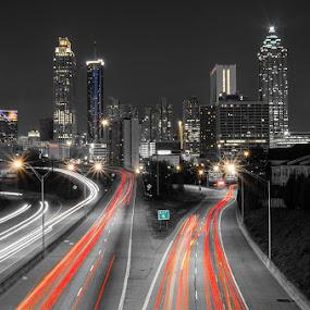 Atlanta, GA by Andrew Savasuk - Buildings & Architecture Office Buildings & Hotels ( urban, commute, atlanta, city, pwcskylines )