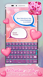 Valentine's Day Love Keyboard screenshot 3