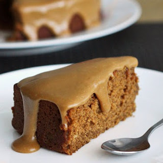 Gingerbread Cake with Cinnamon Butter Glaze