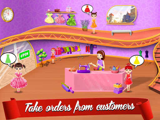 Cute Dress Maker Shop: Little Tailor Boutique android2mod screenshots 1