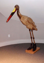 Photo: Many of Jerry and Deena's acquisitions are very whimsical. This bird is by Arnie Auchler.