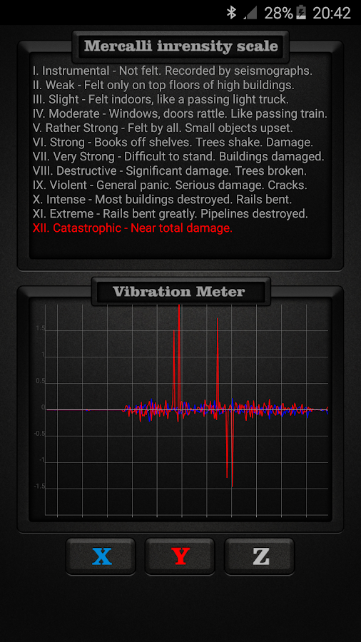 Vibration Meter PRO- screenshot
