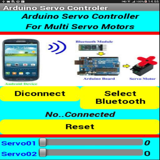 التحكم بمحركات السيرفو عن طريق موبايل الاندرويد (app)
