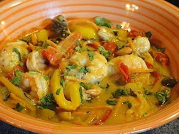 MG's Thai Rainbow Curry with Shrimp