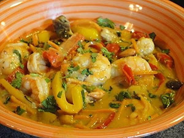 Mg's Thai Rainbow Curry With Shrimp Recipe