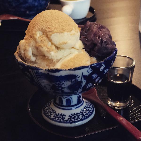 茶寮侘助。私心推薦一定要來訪的日本抹茶甜點店,還有超道地日本咖哩烏龍麵~要提前一個月預約才吃得到喔!