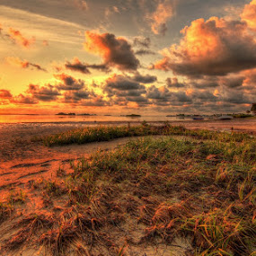 Sunset Over St. Joseph Sound by Edward Allen - Landscapes Sunsets & Sunrises ( florida. sunsets. hdr.,  )