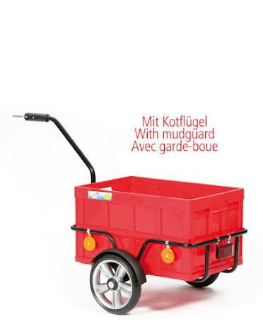 Transportvagn Bike Trailer Easy med 25cm Kullagrade hjul