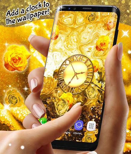 Golden Roses Live Wallpaper ud83cudf39Gold Rose Wallpapers screenshots 3
