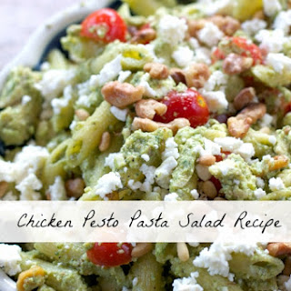 Chicken Pesto Pasta Salad Recipe #goodcookcom Homemade Pesto Sauce